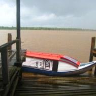 Met speedboatje door de Essequibo rivier