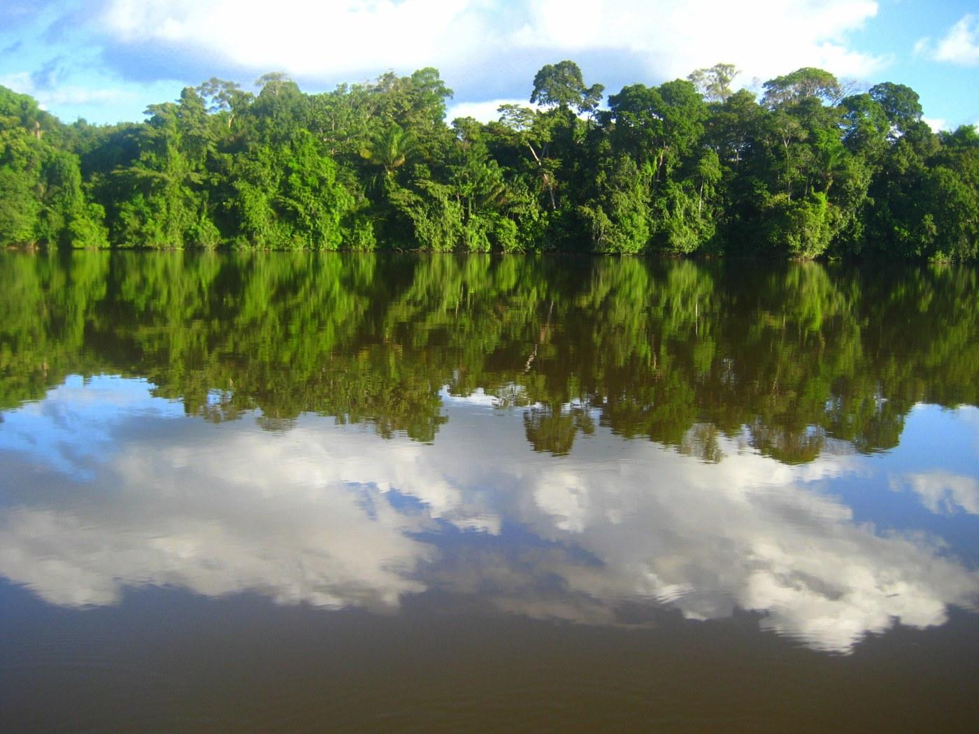 Onderweg over de Surinamerivier