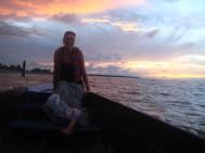 Laatste avond, dolfijnen spotten op de Surinamerivier