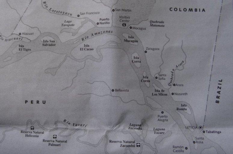 kaart Leticia