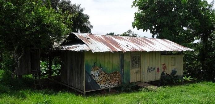 Mocagua's beschilderde huisjes