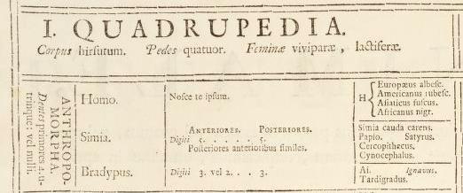 systema naturae 1735